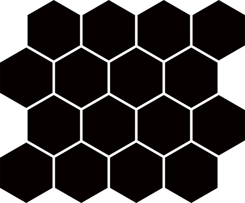 Paradyz Nero Hexagon мозаика
