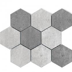 Polcolorit Tempora Grigio/Grafit Heksagon мозаика