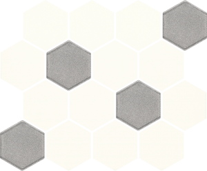 Paradyz Bianco Hexagon Mix мозаика