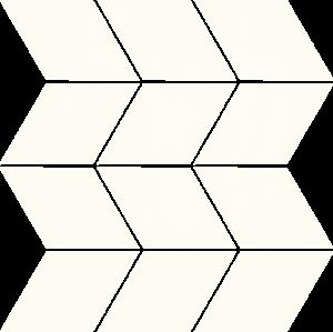Paradyz Bianco Romb Braid мозаика
