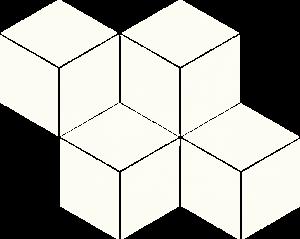 Paradyz Bianco Romb Hexagon мозаика