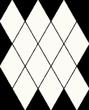 Paradyz Bianco Romb Pillow мозаика