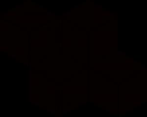 Paradyz Nero Romb Hexagon мозаика