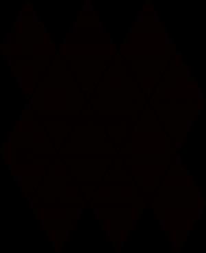 Paradyz Nero Romb Pillow мозаика